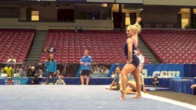 Samantha Peszek-A True Performer on Floor, 2014 NCAA Podium Training