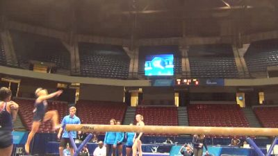 Samantha Peszek solid on beam at 2014 NCAA Championships