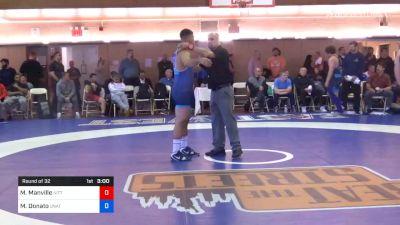 77 kg Prelims - Mason Manville, Nittany Lion Wrestling Club vs Michael Donato, Unattached