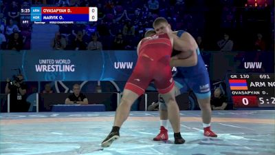 130 kg Repechage #2 - David Ovasapyan, Armenia vs Oskar Marvik, Norway