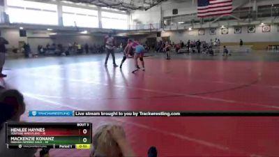 180 lbs Round 2 (4 Team) - Mackenzie Konanz, Indiana INFERNO GOLD vs Henlee Haynes, Youtube Wrestlers