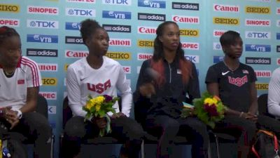 Bartoletta tells us why the US women's exchanges were so good!