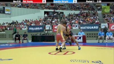 86kg Quarter-finals Quentin Wright (PA) vs. Phil Keddy (IA)