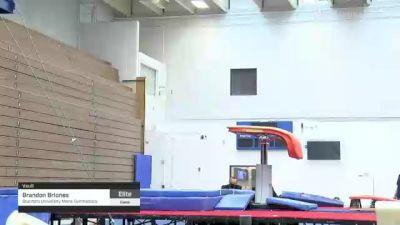 Brandon Briones - Vault, Stanford University Mens Gymnastics - 2021 Men's Olympic Team Prep Camp