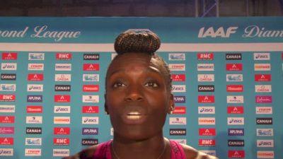 Dawn Harper-Nelson after winning Paris DL hurdles