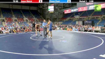 70kg Round 1 Jason Welch (Chicago RTC) vs. Chase Pami (Sunkist Kids)