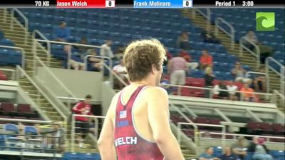 70kg 3rd Place Match Jason Welch (Chicago RTC) vs. Frank Molinaro (NLWC)