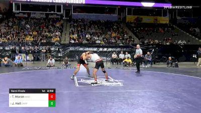141 lbs Semifinal - Tristan Moran, Wisconsin vs Joshua Heil, Campbell