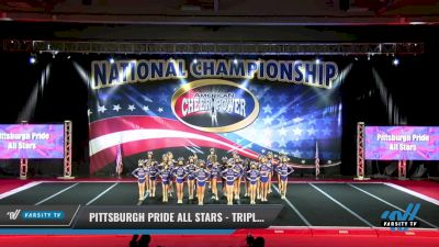 Pittsburgh Pride All Stars - Triple Threat [2021 L3 Junior - Medium Day 1] 2021 ACP: Midwest World Bid National Championship