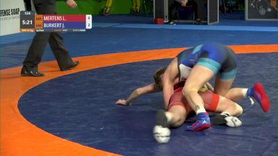 57 kg Jenna Burkert, USA vs Laura Mertens, GER