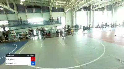 145 lbs 2nd Place - Edward Irwin, Speakeasy WC vs Aaron Lopez, Silver Back WC