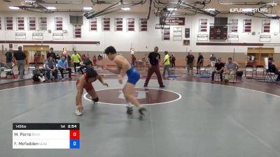 145 lbs Consolation - Maximus Parra, Bound Brook vs Finnegan Mcfadden, Seagull Wrestling Club