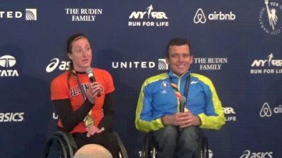 Tatyana McFadden, Kurt Fearnley after NYC victories