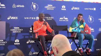 Wilson Kipsang after the NYC Marathon