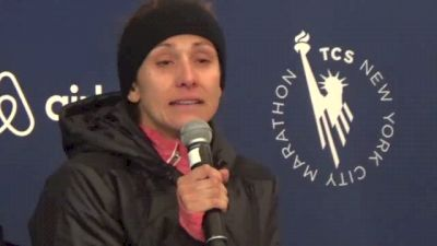 Kara Goucher Emotional after Marathon Return