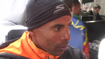 Meb after finishing 4th at NYC