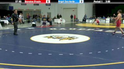 57kg Quarter-finals Brandon Precin (NYAC) vs. Angel Escobedo (NYAC)