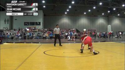 125lbs Round 1 Nahshon Garrett (Cornell) vs. Sean McCabe (Rutgers)