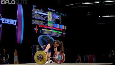 Marissa Klingseis (USA, 90) Snatches 105kg At 2017 IWF Worlds