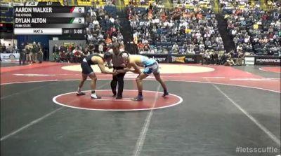 157lbs Quarter-finals Dylan Alton (Penn State) vs. Aaron Walker (Citadel)