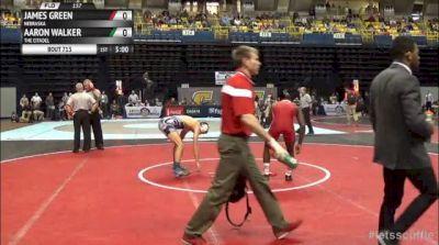 157lbs Semi-finals James Green (Nebraska) vs. Aaron Walker (Citadel)