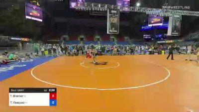 126 lbs Consi Of 4 - Tristan Bremer, Idaho vs Teegan Vasquez, Montana
