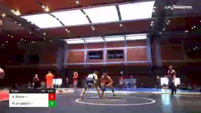 138 lbs Final - Antwaun Burns, OH vs Matthew Singleton, GA