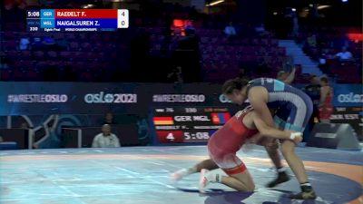 76 kg 1/8 Final - Francy Raedelt, Germany vs Zagardulam Naigalsuren, Mongolia