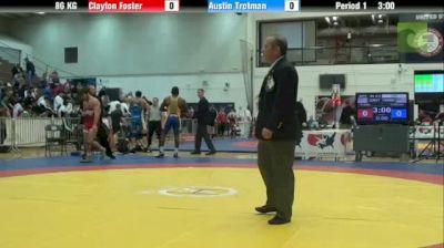 86kg lbs semi-finals Clayton Foster GRIT vs. Austin Trotman TMWC