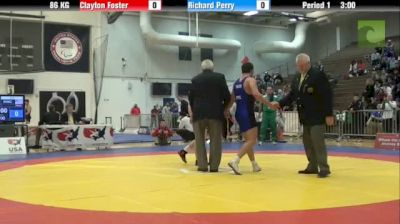 86kg lbs finals Clayton Foster Grit vs. Richard Perry NYAC