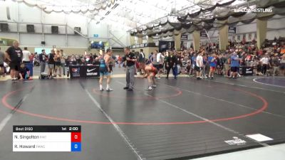 55 kg Round Of 32 - Nash Singelton, Roseburg Mat Club vs Robert Howard, TMWC/Bitetto Trained