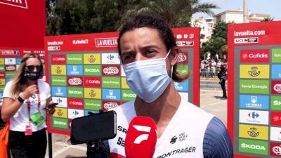 Kiel Reijnen: 'The Whole Team Is Rooting For Luca' Stage 8 - 2021 Vuelta A España