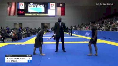 HENRIQUE DE OLIVEIRA ROSSI vs ESTEVAN G MARTINEZ-GARCIA 2021 World IBJJF Jiu-Jitsu No-Gi Championship