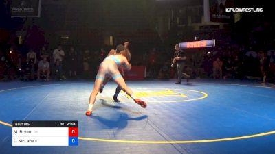 145 lbs 3rd Place - Manzona Bryant, Ohio vs Chance McLane, Montana