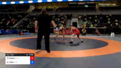 74 kg Consolation - Ryan Deakin, TMWC / Wildcat Wrestling Club vs Evan Wick, Titan Mercury Wrestling Club (TMWC)
