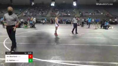 141 lbs 3rd Place - Marckis Branford, Clackamas vs Caleb Nathan, Western Wyoming