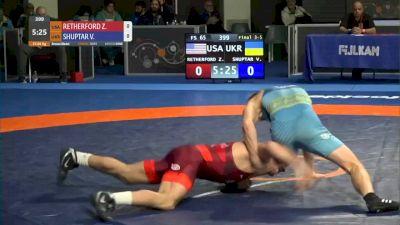 65 kg 3rd Place - Zain Retherford, USA vs Vasyl Shuptar, UKR