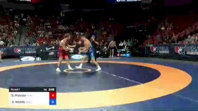 82 kg Round 1 - Ben Provisor, New York Athletic Club vs Spencer Woods, Army (WCAP)
