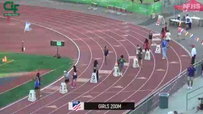 Girls' 200m, Finals 1