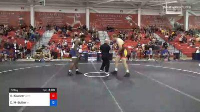 125 kg Prelims - Keaton Kluever, Gopher Wrestling Club - RTC vs Cameron Mayes-Butler, Iowa