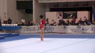 USA, Laurie Hernandez, 14.65 FX, Event Finals - Jesolo 2015