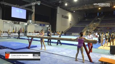 Team China Seniors - Beam, Official Training - 2019 City of Jesolo Trophy