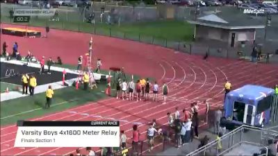 High School Boys' 4x1600m Relay Varsity, Finals 1