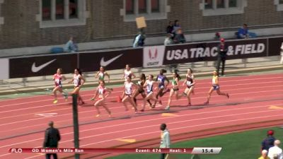 Women's Mile  (Event 474 - Olympic Development, Gallagher takes down Sheila Reid)