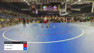 182 lbs Consi Of 8 #1 - Gervacio Gonzalez, Tennessee vs Talmage Carman, Utah