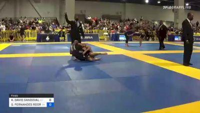 KYLE DAVID SANDOVAL vs GEDIELSON FERNANDES RODRIGUES 2021 American National IBJJF Jiu-Jitsu Championship
