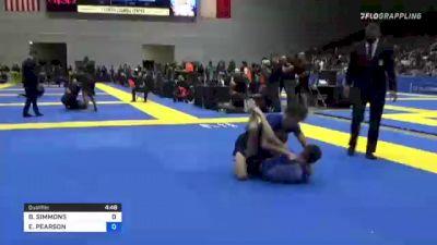 BRAYDEN SIMMONS vs EZRA PEARSON 2021 World IBJJF Jiu-Jitsu No-Gi Championship