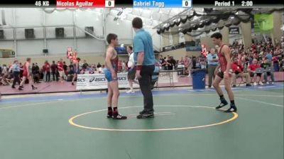 46kg Quarter-finals Nicolas Aguilar (California) vs. Gab Tagg (Ohio)