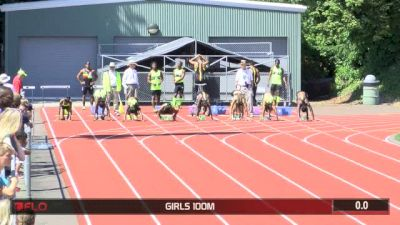 Brooks PR 2015 Girl's 100m  (Candace Hill 10.98 National Record!!)
