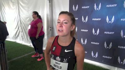 Emily Infeld wanted top 3 in the 5K, happy to have more ladies join Bowerman TC